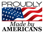 Proudly made by americans logo
