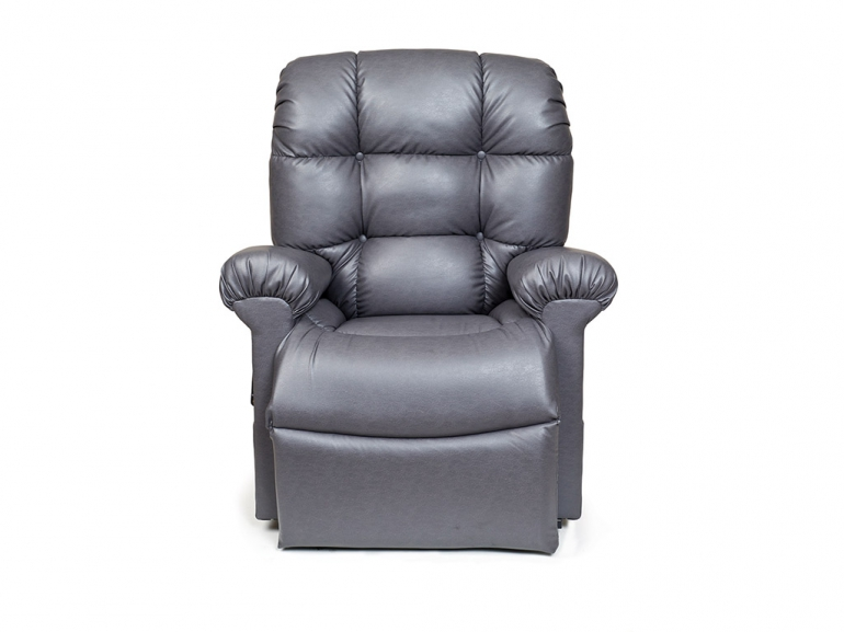 Photo of the Cloud lift chair in grey color.