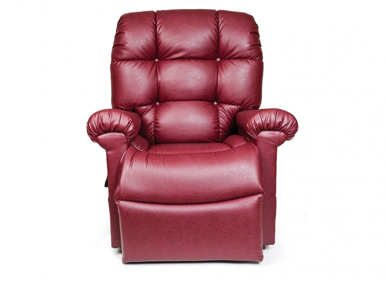 Photo of the Cloud lift chair in red color.