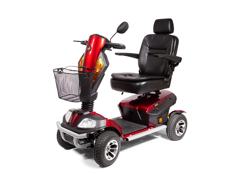 Photo of the Golden Patriot scooter.