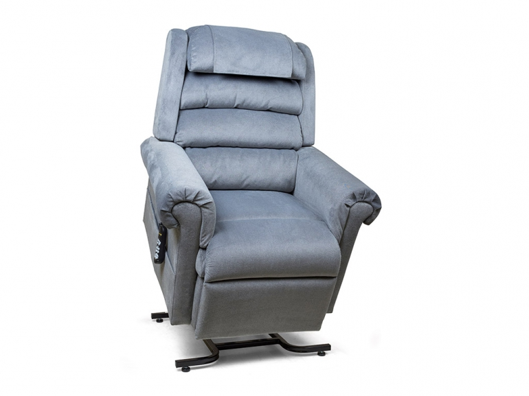 Photo of the blue Relaxer lift chair.