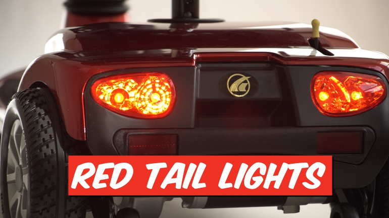 Photo of red tail lights.