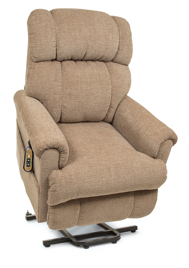 Photo of the Space Saver lift chair in sandstorm color.