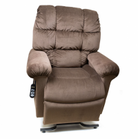 Photo of the Cloud lift chair in brown color. thumbnail