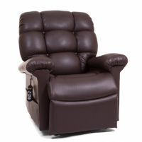 Photo of the Cloud lift chair in the Coffee Bean color sitting. thumbnail