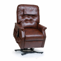 Photo of the Capri Lift Chair in Chestnut against a white background.