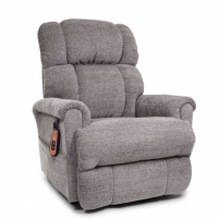 Photo of the Space Saver lift chair in Anchor in sitting position. thumbnail